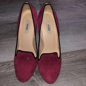 Guess heels velour